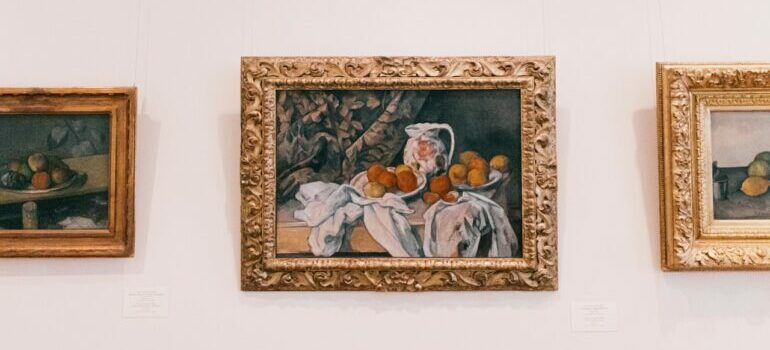 Framed painting of a fruit